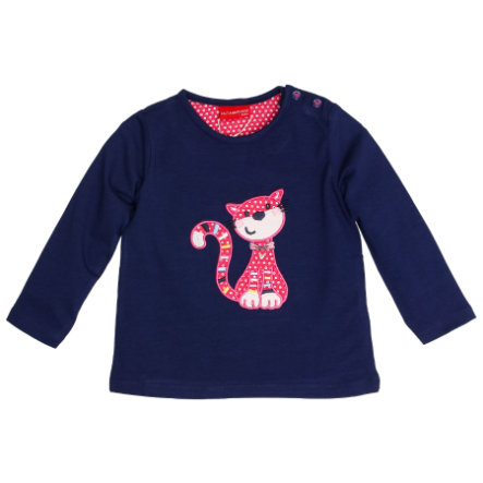 SALT AND PEPPER Langarmshirt Girls Funny Katze navy blue