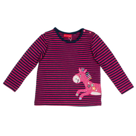 SALT AND PEPPER Langarmshirt Girls Funny stripes magenta