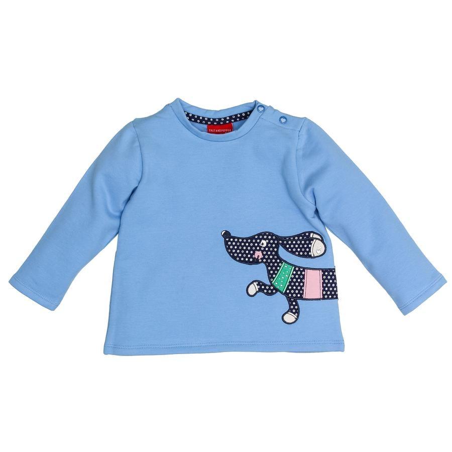 SALT AND PEPPER Girl s Sweatshirt Teckel Bécasseau Bleuet