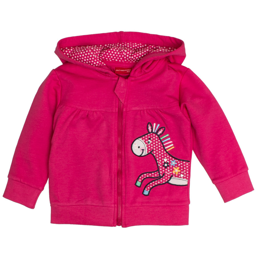 SALT AND PEPPER Girls Sweatjacke Funny magenta