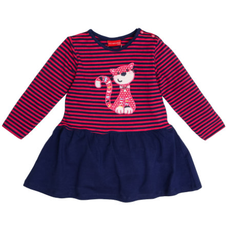 SALT AND PEPPER Kleid Funny stripes Katze magenta