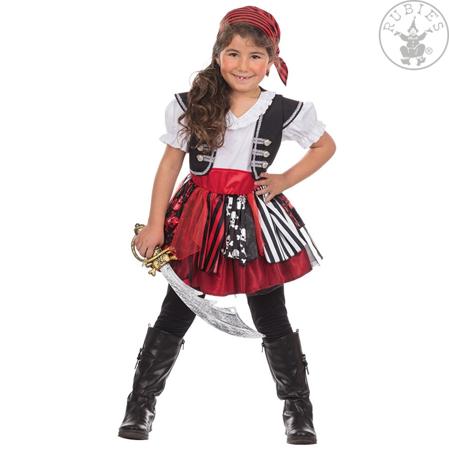 Rubies Costume enfant pirate Bonnie blanc/rouge