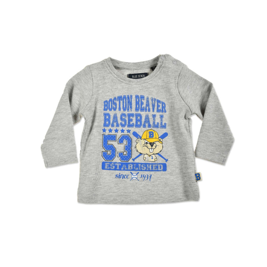 BLUE SEVEN Boys Camicia manica lunga grigio