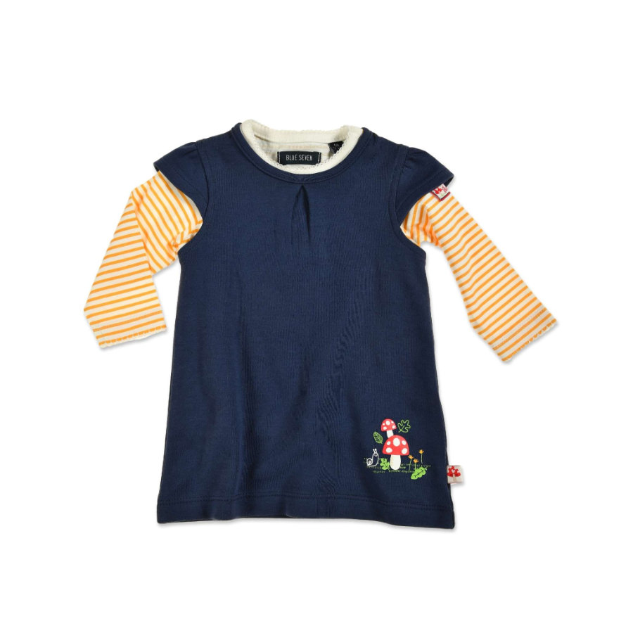 BLUE SEVEN Girls 2er Set Kleid + Shirt dunkelblau