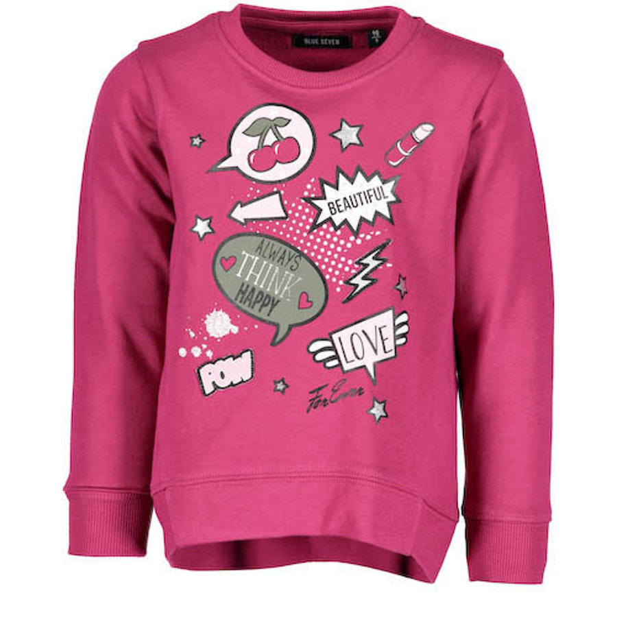 BLUE SEVEN Girls Sweatshirt bordeaux