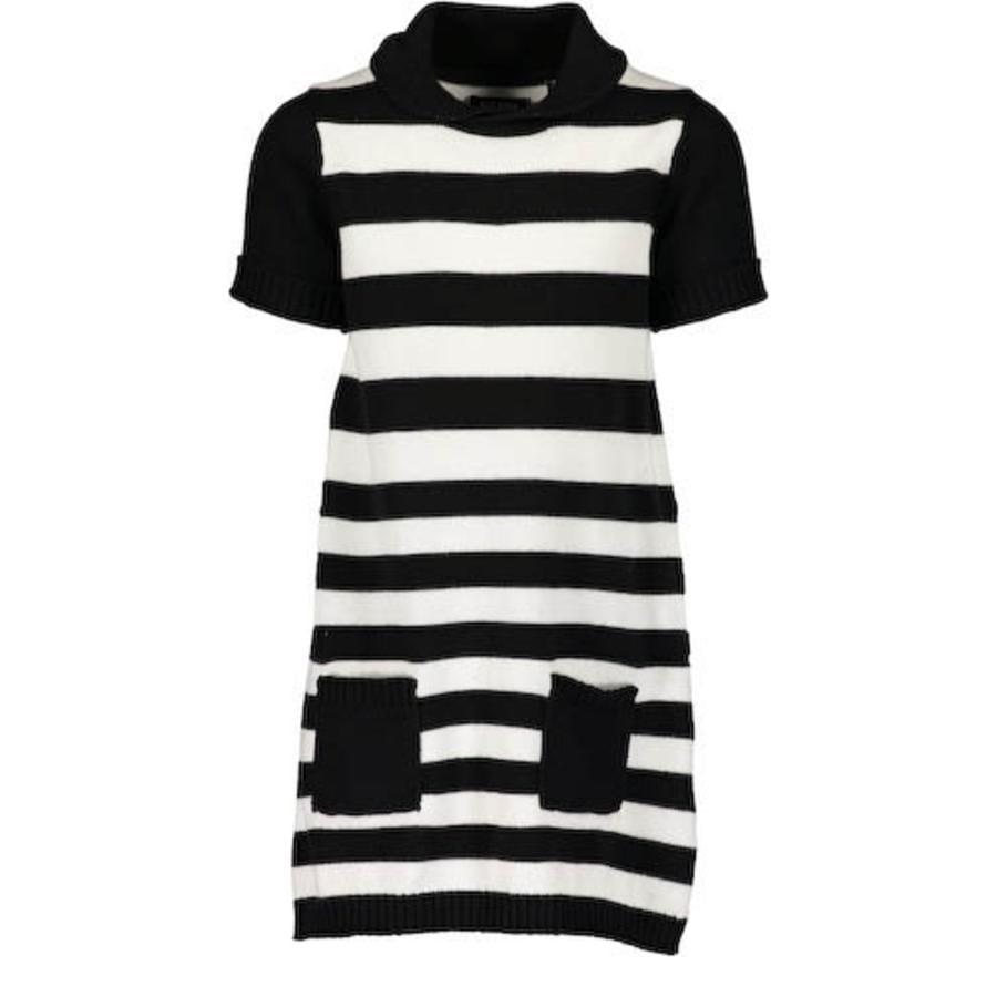 BLUE SEVEN Girl s robe tricotée noir