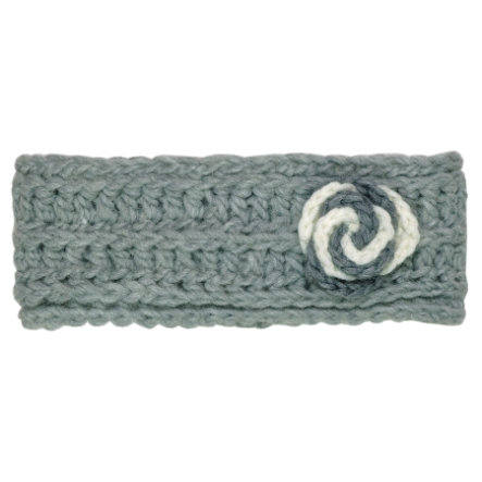 maximo Girl s cinta para la cabeza crochet flower greyelange