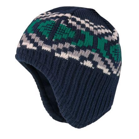 maximo Boys czapka ciemna granatowa/ wełna biała