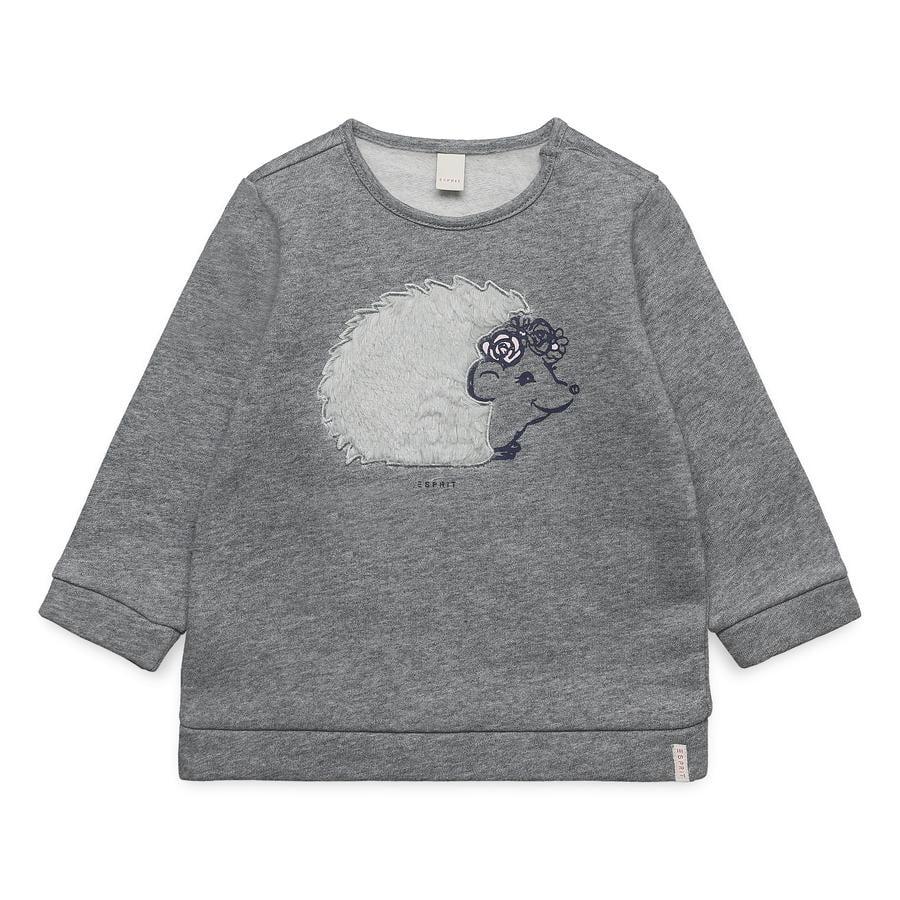 ESPRIT Bluza dziecięca Girl Sweatshirt w połowie wrzosowej szarości
