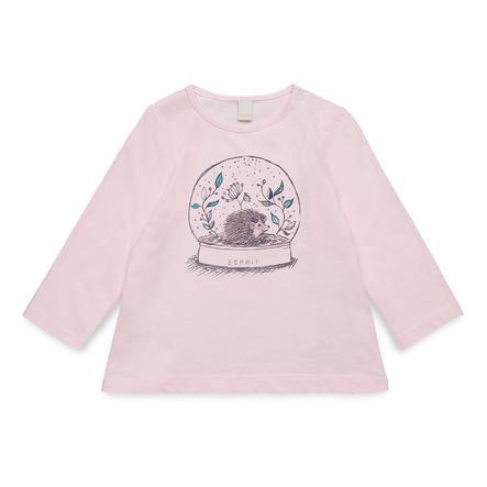 ESPRIT Girls Košile s dlouhým rukávem pastelově růžová