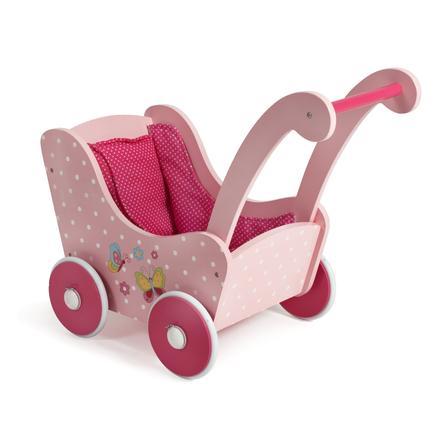 BAYER CHIC 2000 Holz-Puppenwagen Papilio pink