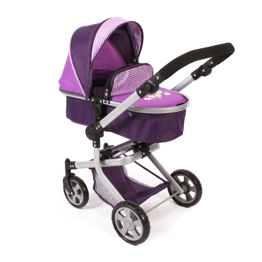 BAYER CHIC 2000 Passeggino duo per bambole MIKA purple checker