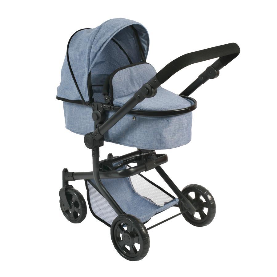 BAYER CHIC 2000 Wózek Kombi dla lalek MIKA Jeans blue