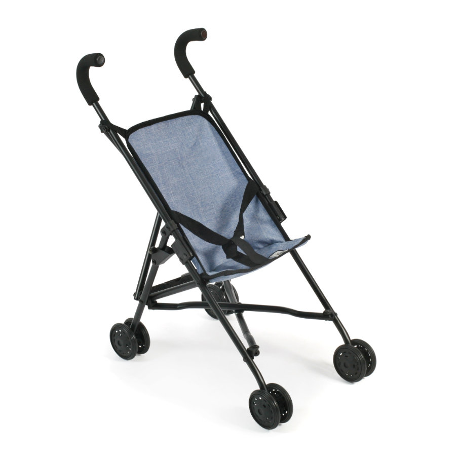 BAYER CHIC 2000 Mini Wózek spacerowy dla lalek ROMA Jeans blue