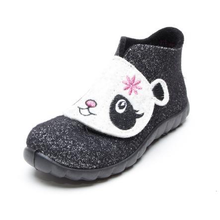 superfit Hausschuh Happy Panda schwarz