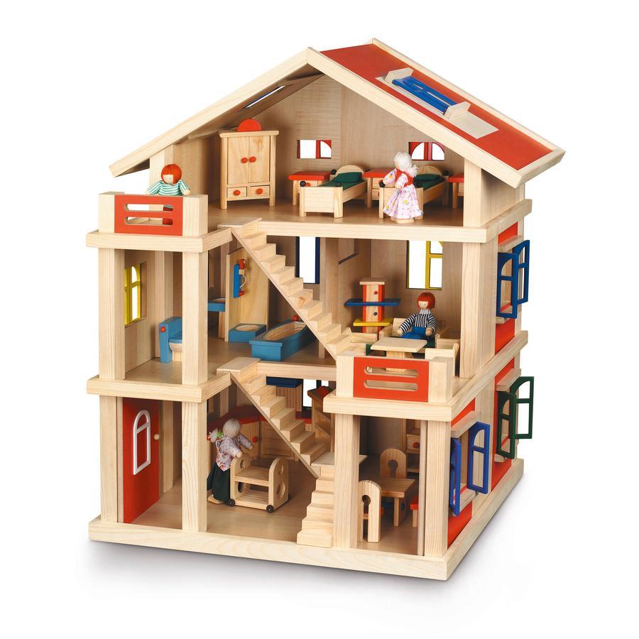 BAYER CHIC 2000 Maison de poupée 3 étages, bois