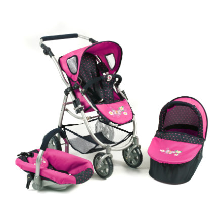 CHIC 2000 3 in 1 combi EMOTION ALL IN - Dots Navy-Pink