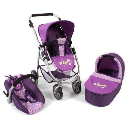 CHIC 2000 EMOTION ALL IN 3 v 1 kočárek pro panenky - Purple