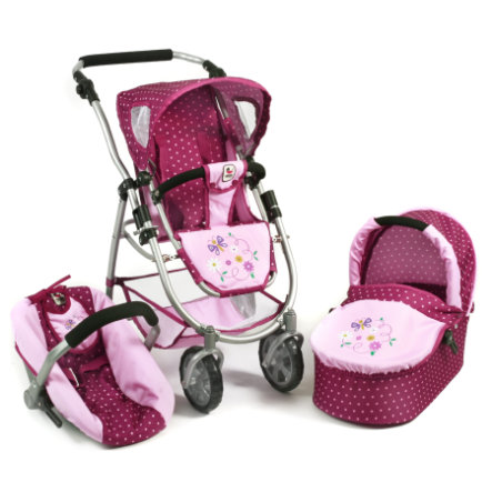 BAYER CHIC 2000 3in1 Kombi EMOTION ALL IN dots brombeere