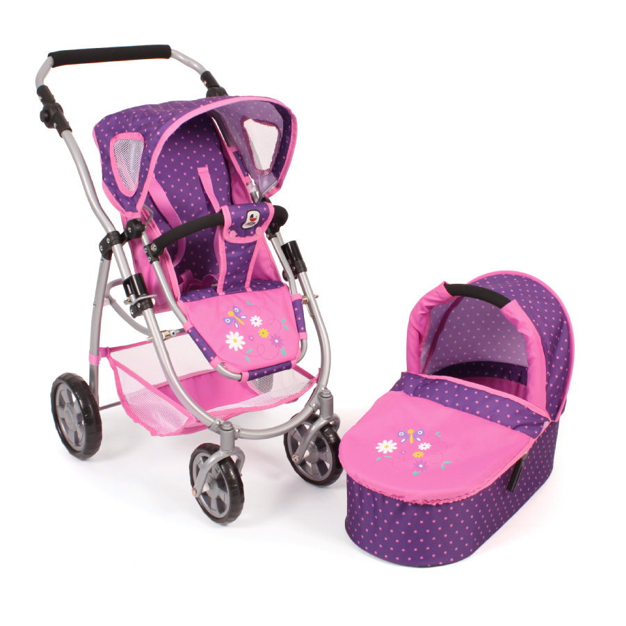 """CHIC 2000 Combi """"EMOTION"""" 2 in 1 - Dots Purple-Pink"""