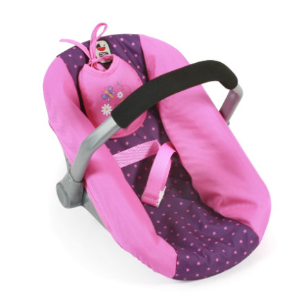 BAYER CHIC 2000 Puppen-Autositz, dots purple pink
