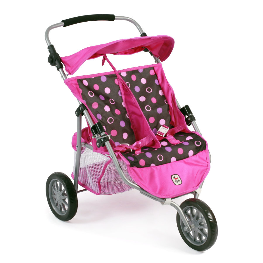 BAYER CHIC 2000 Zwillings-Buggy JOGGER pinky balls