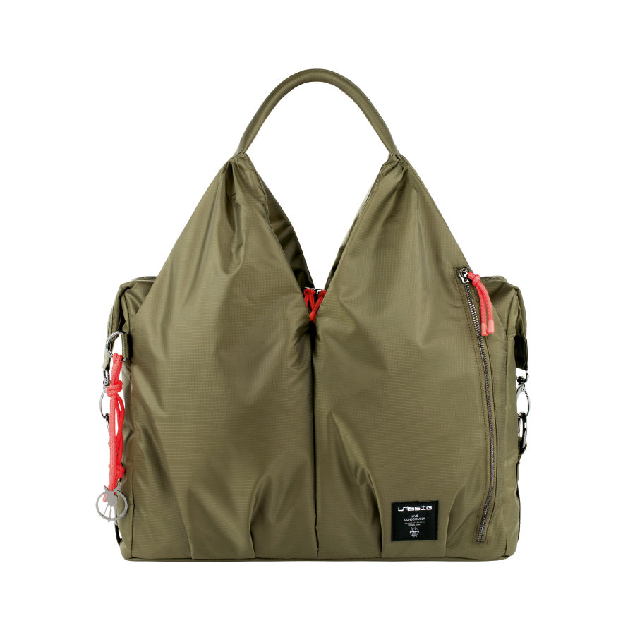 LÄSSIG Sac à langer Green Label Neckline Bag POP olive