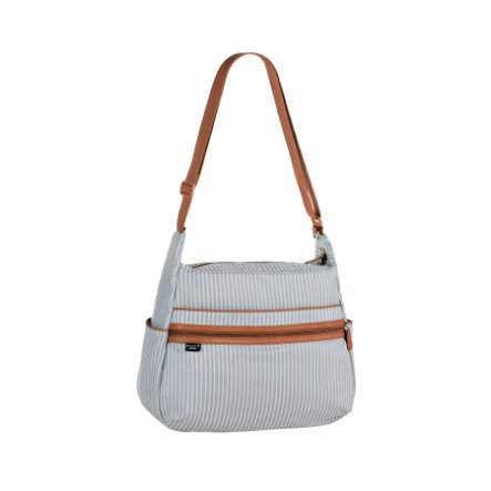 MARV Wickeltasche Urban Bag Pinstripe light grey