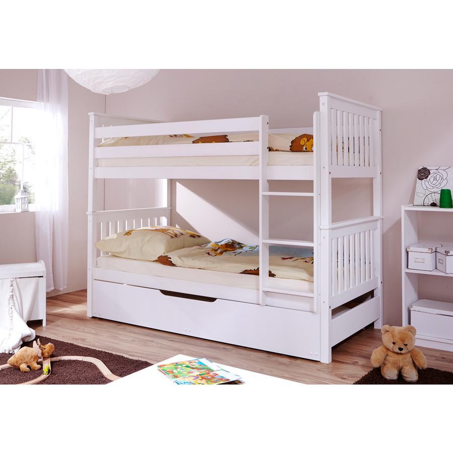 TiCAA patrová postel Sammy Var 1 s přistýlkou