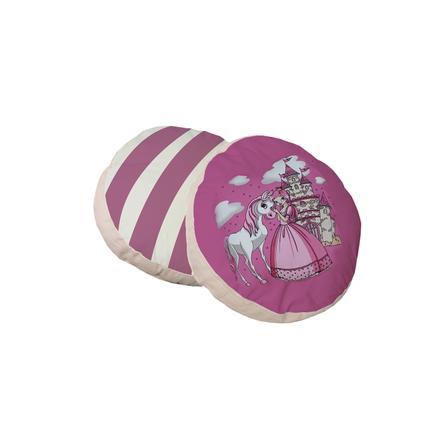TiCAA Cuscini tondi principessa, 2 pezzi rosa