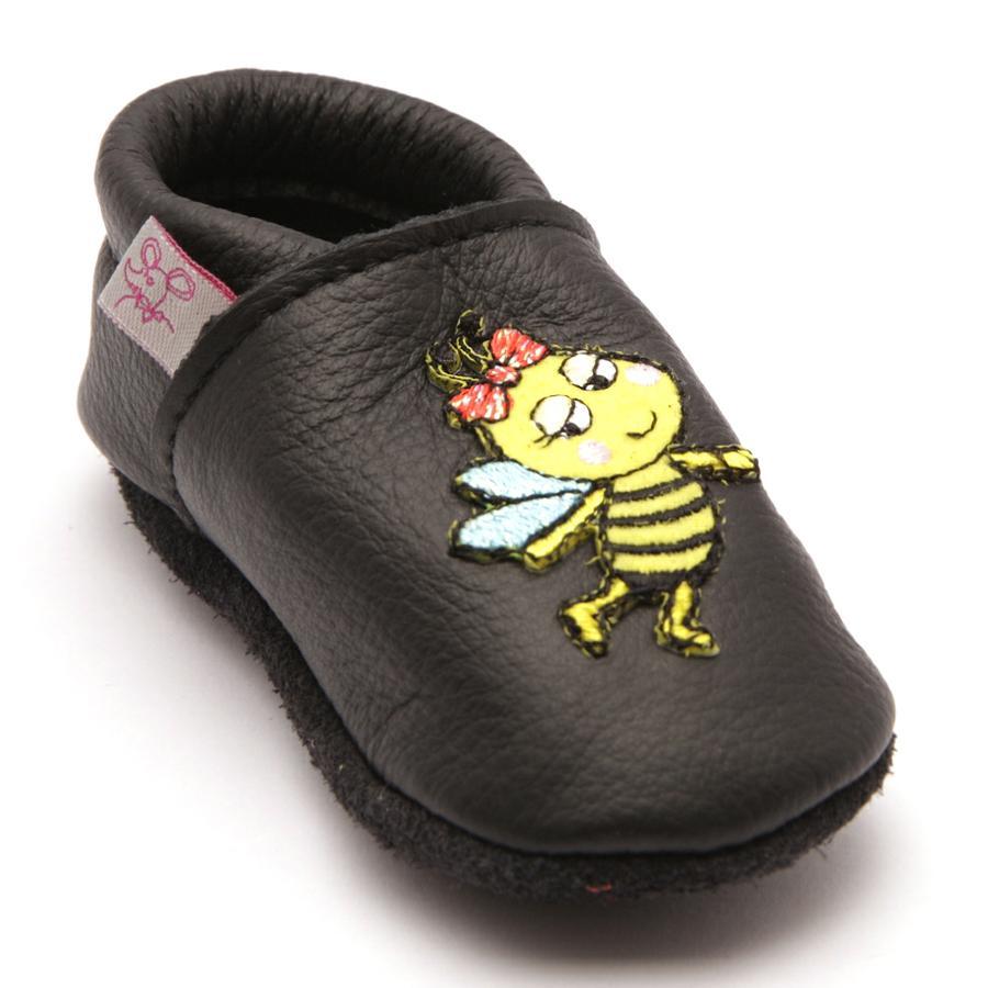TROSTEL Girl s kruipschoen bijen zwart