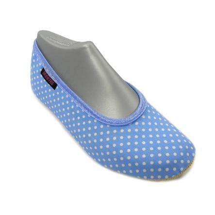TROSTEL Girls Gymnastiksko Bambino blå prikker hvid