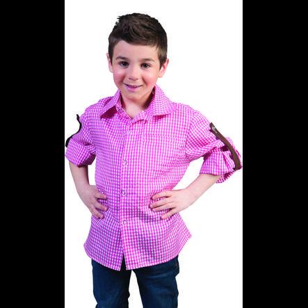 FUNNY FASHION Chemise enfant à carreaux blanc/rose