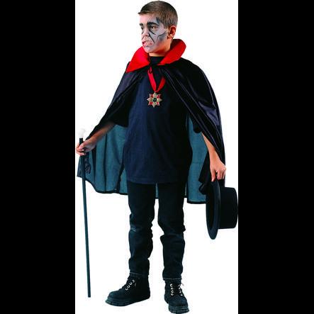 FUNNY FASHION Cape enfant Dracula noire/rouge
