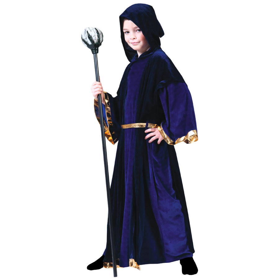 FUNNY FASHION Costume enfant sorcier bleu foncé
