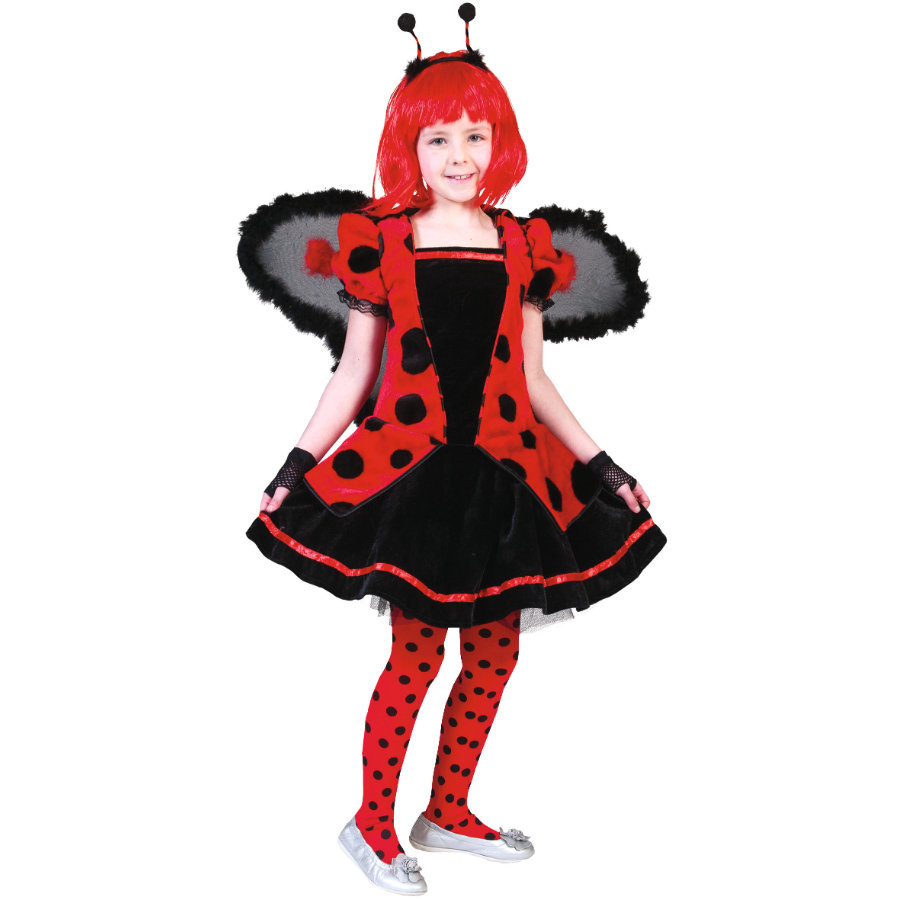 FUNNY FASHION Carnaval kostuum lieveheersbeestje Daisy
