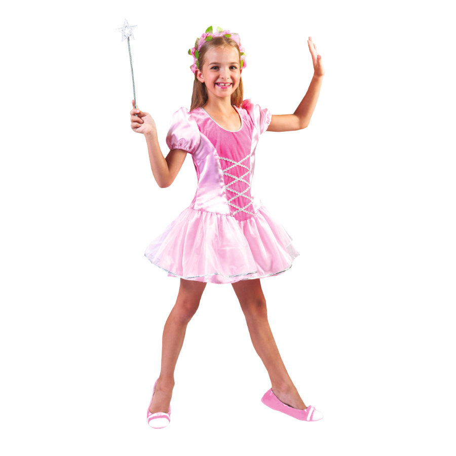 FUNNY FASHION Kostiumy karnawałowe Księżniczka Girl Różowa