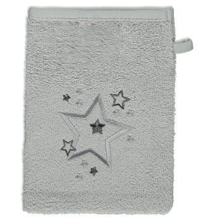 odenwälder Waschhandschuhe 3er-Pack Sterne silber