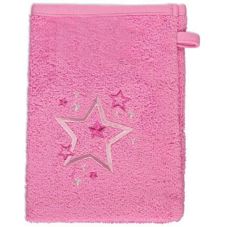 odenwälder Waschhandschuhe 3er-Pack Sterne pink