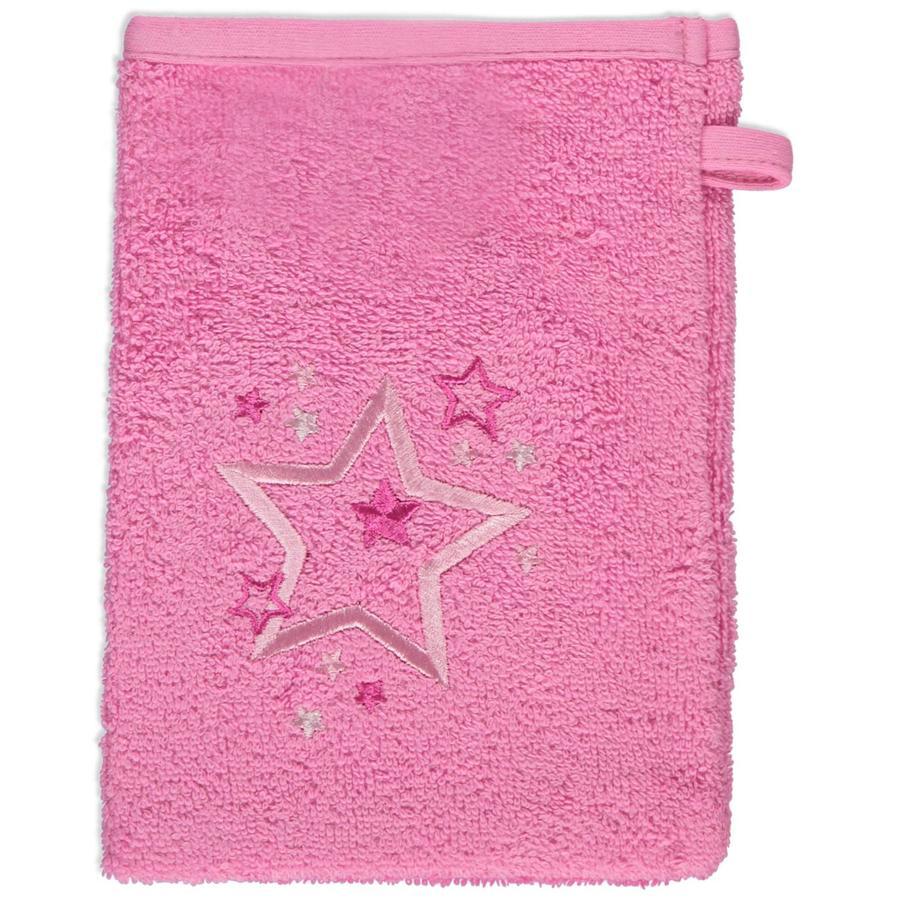 odenwälder Washandschoenen 3-pack sterren pink