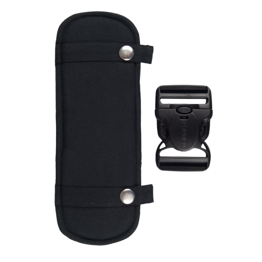 Hoppediz Kit patch de sangle de porte-bébé, noir