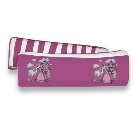 TiCAA Sada 2 zádových polštářů Princezna, růžová