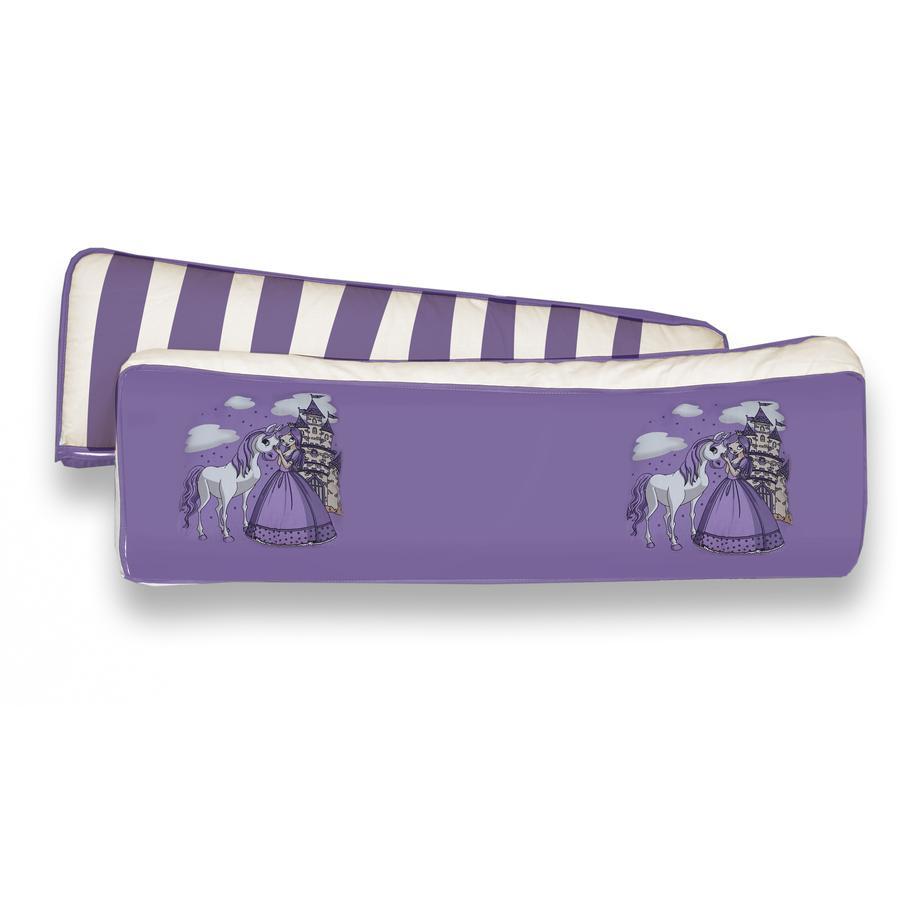 TiCAA Sada 2 zádových polštářů Princezna, lila