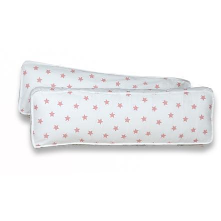 TiCAA Sada 2 zádových polštářů Stern, bílo-růžová