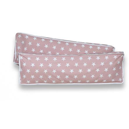 TiCAA Cuscini rettangolari Stelle, 2 pezzi rosa
