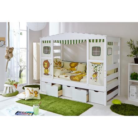 TiCAA Łóżko Domek + 5 szufladek Safari