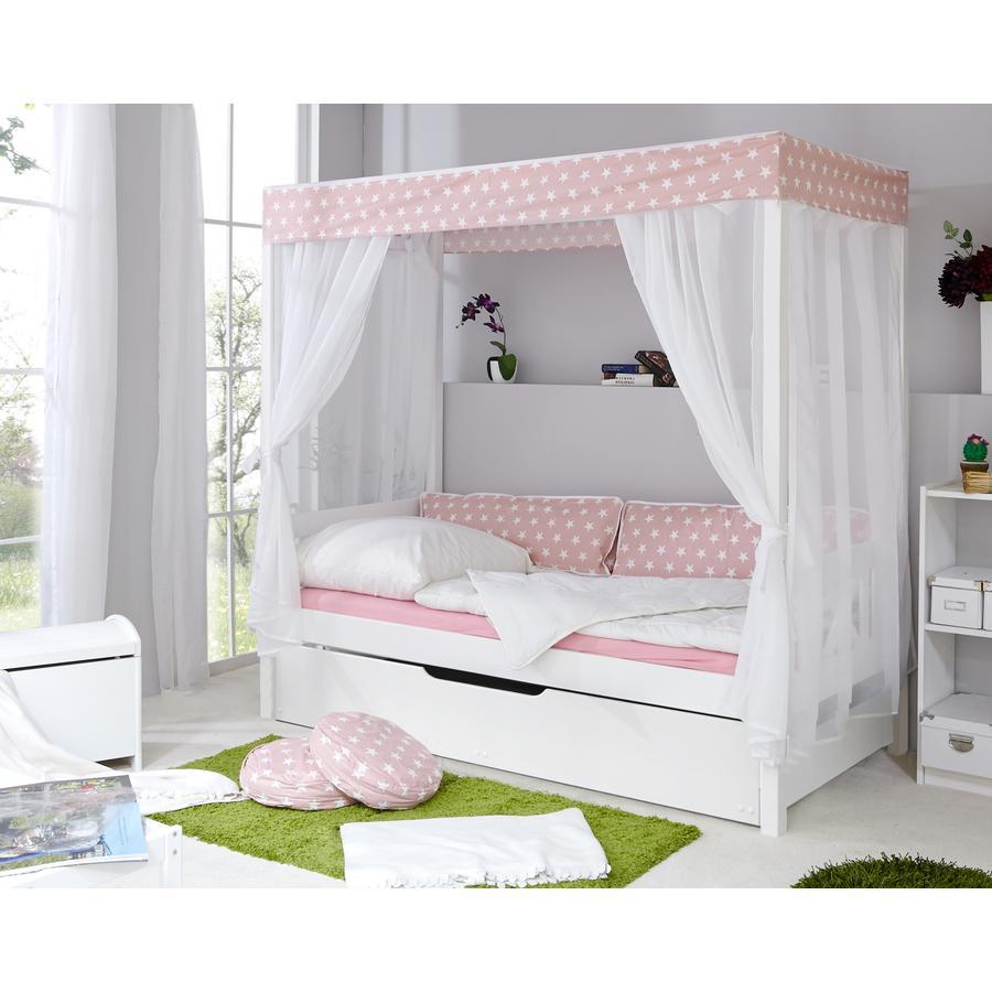 ticaa lit baldaquin enfant toile rose var 1 deuxi me lit. Black Bedroom Furniture Sets. Home Design Ideas