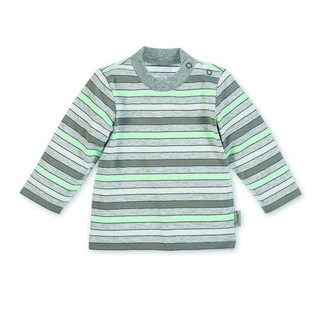 Sterntaler tričko s dlouhým rukávem Jersey Waldis Filou, šedivá melange