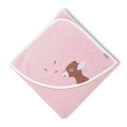 Sterntaler Kapuzenbadetuch Waldis Rosie 80 x 80 cm rosa