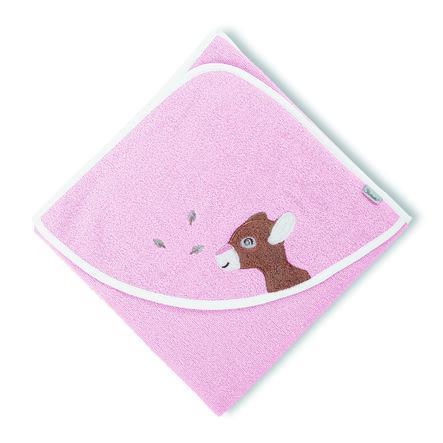 Sterntaler osuška s kapucí Waldis Rosie 80 x 80 cm růžová
